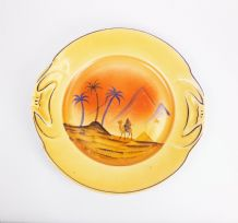 Vintage German  Thuringia plate with desert scene